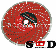 9 inch 230mm Diamond Cutting Disc Blade Silent Cut 22.2mm Centre Neilsen CT0128