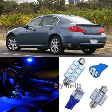 Blue Light Bulb Interior LED Package Kit for Infiniti G35 07-08 G37 09-13 Sedan