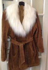 STUNNING SIMPLY BE FAUX FUR COLLAR SUEDE Jacket SIZE 18