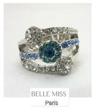 Luxus Ring Damenringe Fingerringe Kristall Belle Miss Paris Elastisch Strass