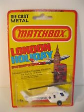 HELICOPTER RESCUE 1981 No.75 MATCHBOX LESNEY ENGLAND MINT ON CARD VINTAGE
