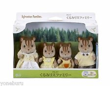 New Sylvanian Families Calico Critters EPOCH Doll walnut squirrel family FS-17