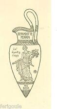 EX-LIBRIS de l'Helléniste Bernadotte PERRIN. U.S.A.