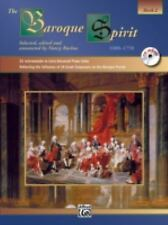 Baroque Spirit  Book 2   Years 1600 -1750  Early to Advanced Piano Solos +CD