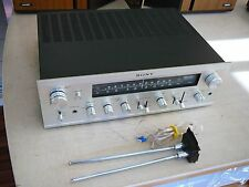 Sony STR-6055 FM Stereo / FM-AM Solid State Receiver Silver Face, Plays/Looks VG