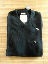 NWT ..ABERCROMBIE & F .. Men's Cashmere Blend Thin Sweater .. Size L NavyBlue