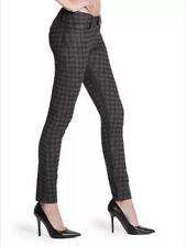 GUESS BLACK BRITTNEY SKINNY ANKLE HOUNDSTOOTH PRINT JEANS SZ: 24