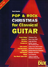 Gitarre Noten : POP & ROCK Christmas  for classical Guitar  mit Tabulatur leMi-M