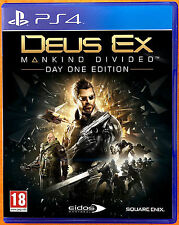 Deus Ex - Mankind Divided - Day 1 Edition - PS4 Games - Excellent Condition