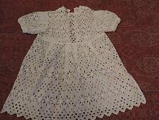 ROBE D'ENFANT/POUPEE  ET CHEMISE   BRODERIE ANGLAISE VINTAGE  CHILD DRESS/