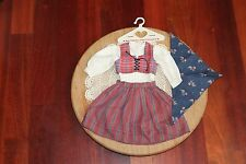 American Girl Doll Kirsten's RET. Dirndl Outfit & Scarf, Pleasant Co.! EUC!