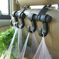 Black Auto Back Seat Hooks For Shopping Hanger Car Rack Clip Headrest Bag
