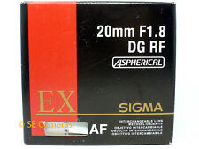 SIGMA EX DG RF 20MM F1.8 ASPHERICAL LENS FOR CANON EF EOS *NEW UK STOCK*