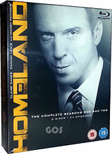 Homeland The Complete Seasons 1 2 Bluray Boxset USA TV Drama Series New Sealed