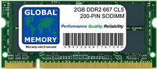 2GB DDR2 667MHz PC2-5300 200 PINES SODIMM INTEL IMAC & MACBOOK/MACBOOK PRO RAM