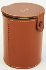 """Tubed Dice Games in Cylindrical Saddle Leather Case"""