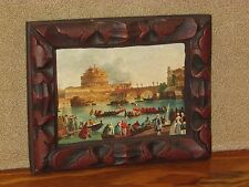 "Vintage Lithograph Castel Sant' Angelo Rome Italy 1700's Duel Fiume Tevere 7""x9"""