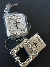 36-New Baptism Party Favors Keychains Giveaways Recuerdos Baptism Bibles