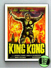 1933 original King Kong Glow In The Dark Framed Cool Art Mini Poster