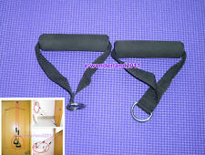 2 X Single Stirrup Handle Foam Grip With D Ring Cable attachment fitness