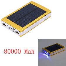 80000mAh Portable Solar Charger Dua USB External Battery Power Bank Golden USA
