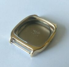 Longines Case Number 4168 645 Gold Plated Stainless Steel Back Glass Swiss Made
