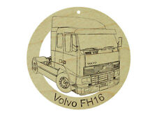 Volvo FH16 Semi Truck Natural Hardwood Ornament Sanded Finish Laser Engraved