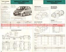 RENAULT Mégane Scénic - 1997 : Fiche Technique Auto Carrosserie / Peinture