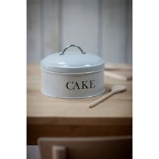 Garden Trading Vintage Style Round Cake Tin In Grey *Perfect For Christmas Cake!
