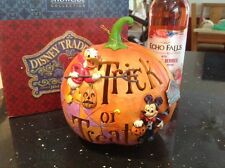 large v rare disney tradition 'halloween light up pumpkin- trick or treat!'