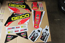 TEAM HONDA GEICO FACTORY GRAPHICS  CR125R CR125 CR250 CR250R  02 03 04 05 06 07