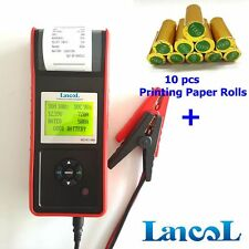 LANCOL 12V Digital Car Auto Battery Load Tester with Built-in Printer MICRO-568