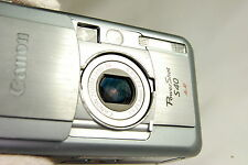 Canon PowerShot S40 4MP Digital Camera - Silver -                     works good