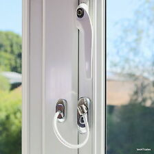 Chrome Lockable Window Security Cable Wire Door Restrictor Child Safety lock pvc