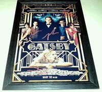"""THE GREAT GATSBY CAST X4 PP SIGNED & FRAMED 12""""X8"""" POSTER BAZ LUHRMANN"""