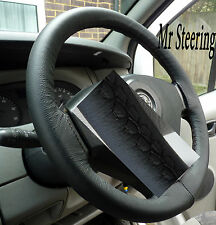 FITS FIAT SCUDO 2007+ REAL ITALIAN LEATHER STEERING WHEEL COVER TOP QUALITY