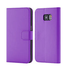 Luxury PU Leather Flip Book Wallet Case Cover For Samsung Galaxy Phones