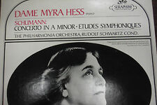 Schumann: Concerto in A Minor Etudes Symphoniques Dm Myra Hess  33RPM 012716 TLJ