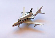 Micro Machines Space Shuttle Piggybacked on a NASA 747 Transport Aircraft