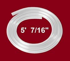 """SIPHON HOSE 5' of 7/16"""" CLEAR FOOD GRADE TUBING FOR RACKING CANE TUBE BEER WINE"""