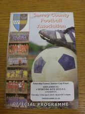 12/04/2011 Surrey County Saturday Lower Junior Cup Final: Oatlands v Sporting Ki