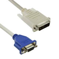 Adapter DVI-I zu VGA, 24 + 5 Pins, Konverter für Digital auf Analog DVI-I (24+5)