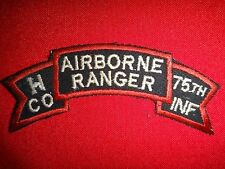 Vietnam War Scroll Patch H Company 75th Infantry Regiment AIRBORNE RANGER