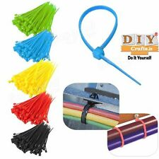 DIY Crafts® 100pc Nylon Plastic Zip Wrap Cable Loop Tie Wire Self-Locking Strapp