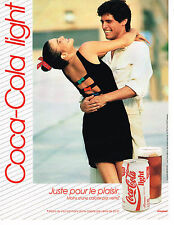 PUBLICITE ADVERTISING 094  1989  COCA-COLA  light   soda