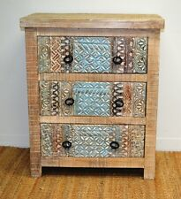 Carved Chic Distressed French Country Sideboard Cabinet Cupboard Dresser Drawer