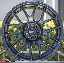 "17X8.25"" XXR 530 WHEELS 5X100/114.3 RIM +35MM FLAT BLACK FITS TYPE R RSX"