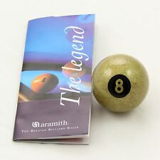 "Exclusive 2"" Aramith Premier GOLDEN 8 BALL Single Pool Ball"