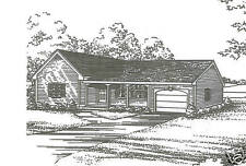 2 Bdrm 1 Bath 1340 SF / 1 Car Garage Ranch Style House Plans Building