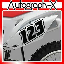 3x ACU CUSTOM RACE NUMBERS Stickers Decals Bike Motocross Trials MX Dirt bike 10